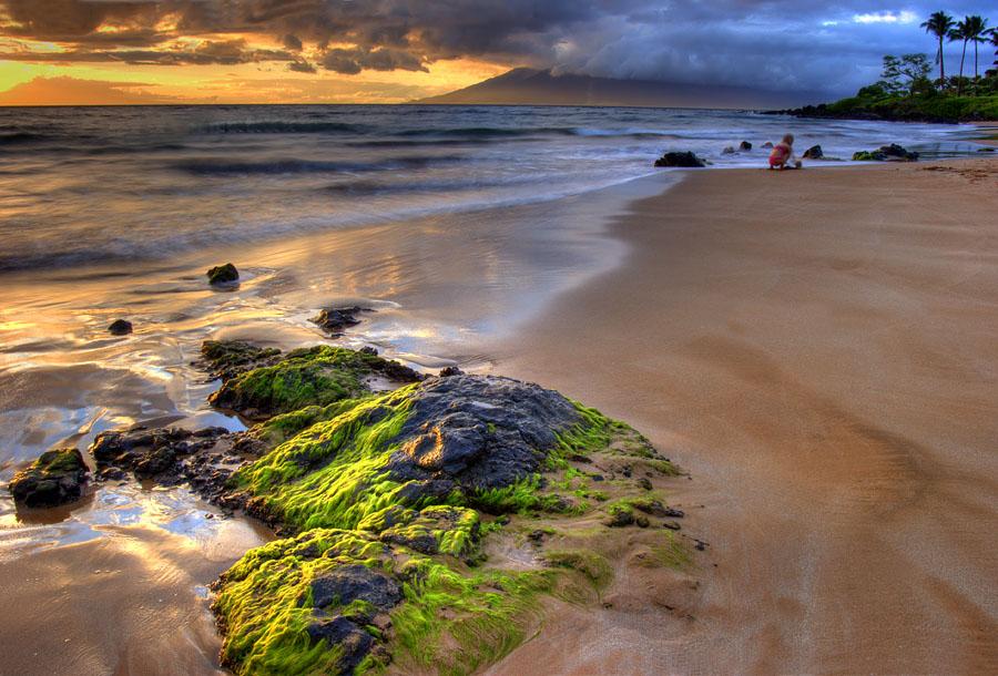 """фото """"Игры на песке"""" метки: пейзаж, вода, закат"""