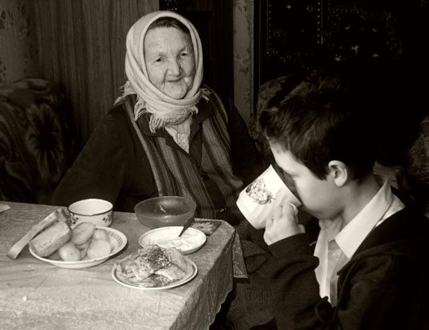 """фото """"Внук приехал"""" метки: жанр, черно-белые,"""