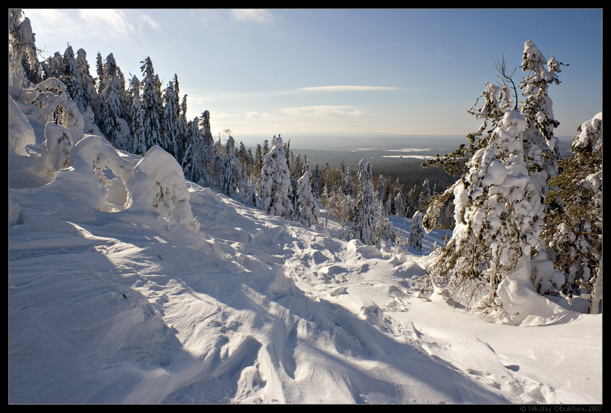 "photo ""Belaya Mt / 167_0075"" tags: landscape, mountains, winter"