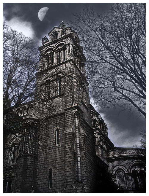"photo ""Gothic mood"" tags: architecture, montage, landscape,"