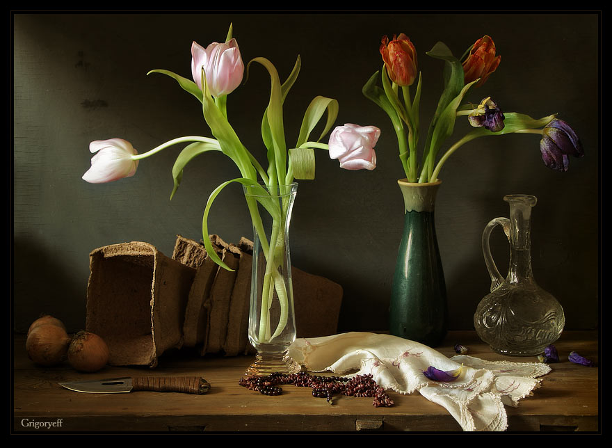 "photo ""Still life with tulips"" tags: still life,"