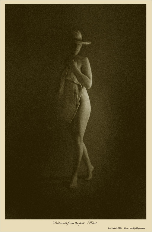 "photo ""..postcards from the past.  A hat..."" tags: glamour, nude,"