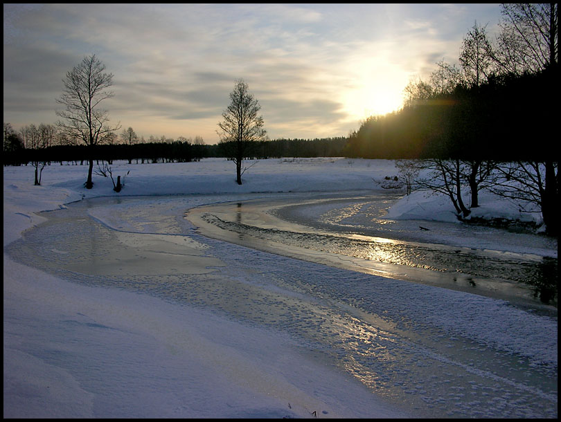 "photo ""Cold february morning"" tags: landscape, sunset, winter"