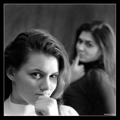 "photo ""Sasha & Alis"" tags: portrait, black&white, woman"