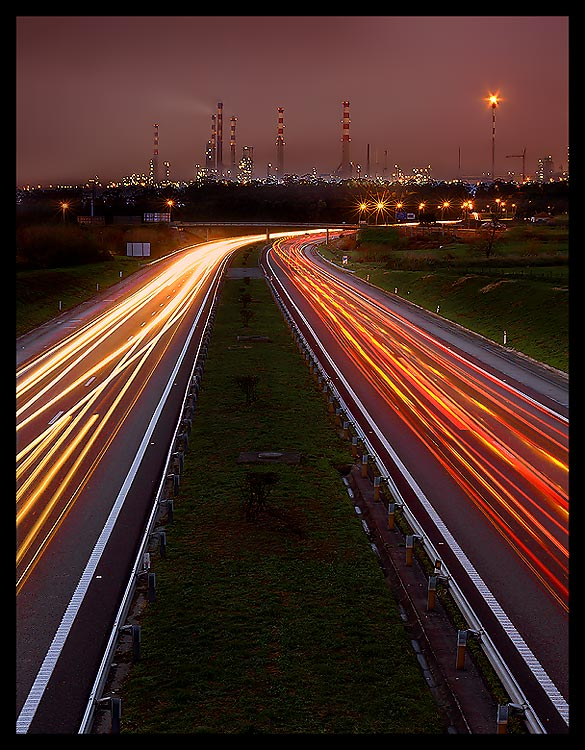 "photo ""Midtown Expressway"" tags: landscape, night"
