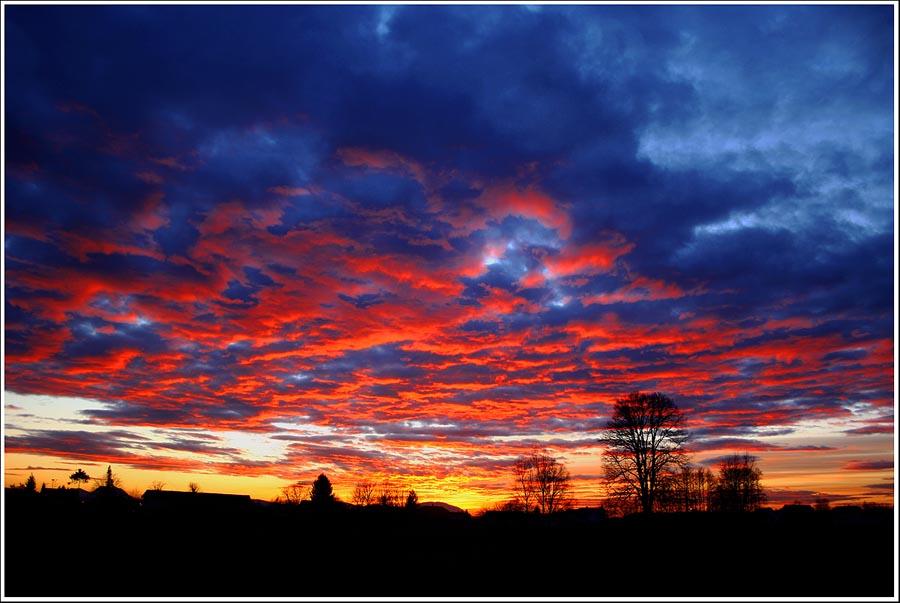"фото ""Fire in the Sky"" метки: пейзаж, облака"