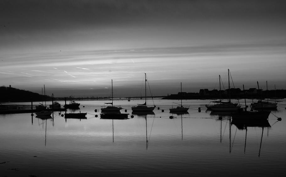 """фото """"Sunrise in b & w"""" метки: пейзаж, закат"""