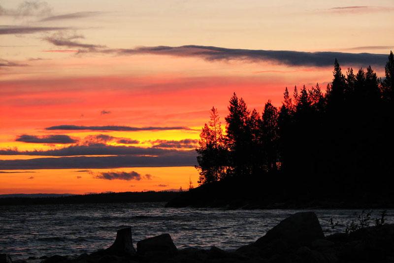 """фото """"Огненный закат"""" метки: пейзаж, вода, закат"""
