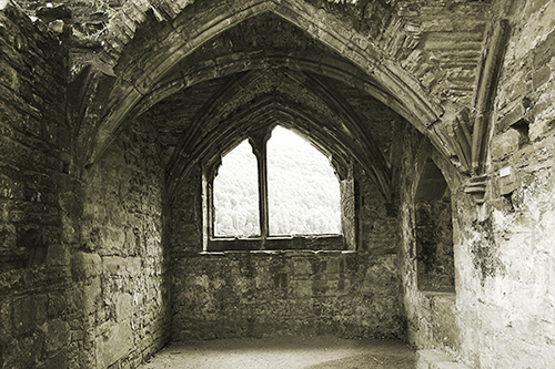 "photo ""Abbey's window"" tags: architecture, misc., landscape,"