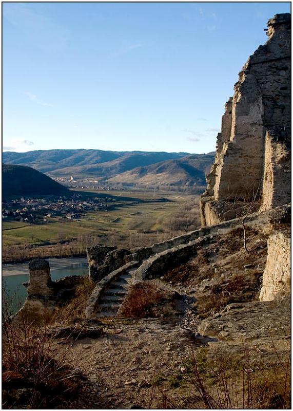 "фото ""Руины Дюрнштайна-3"" метки: пейзаж, архитектура, горы"