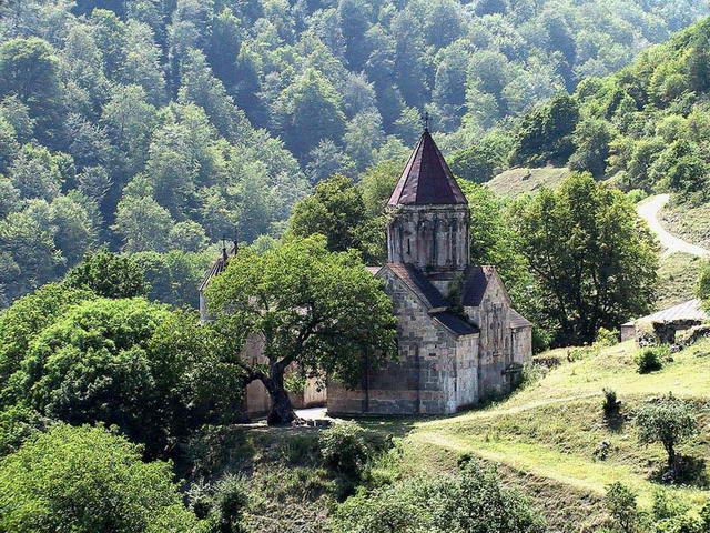 "photo ""A XIth century church near Dilijan (Armenia)"" tags: travel, Europe"