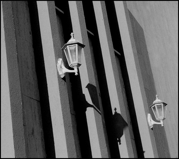 "photo ""Street lamps"" tags: misc., black&white,"