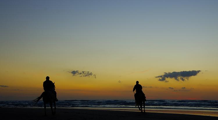 "photo ""Ночные Всадники"" tags: landscape, sport, sunset"