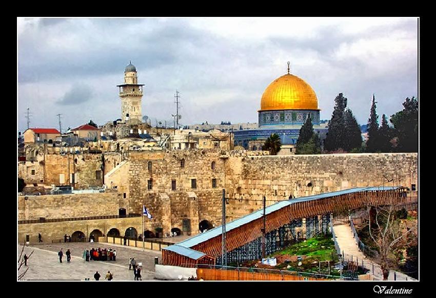 "фото ""У Стены Плача.Иерусалим."" метки: архитектура, пейзаж,"