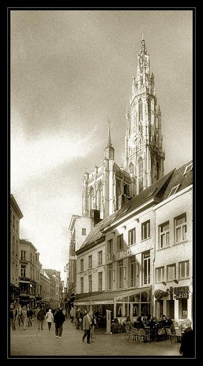 "photo ""Antwerp"" tags: architecture, black&white, landscape,"