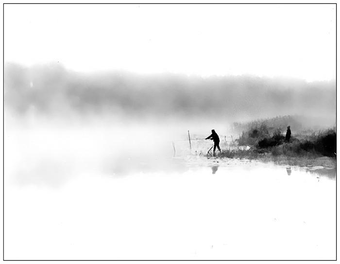 """фото """"Рыбацкое утро."""" метки: пейзаж, вода"""
