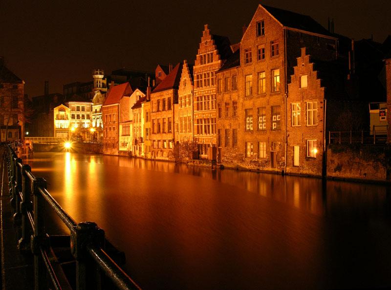 "фото ""Бельгия. Гент. Набережная"" метки: архитектура, пейзаж,"