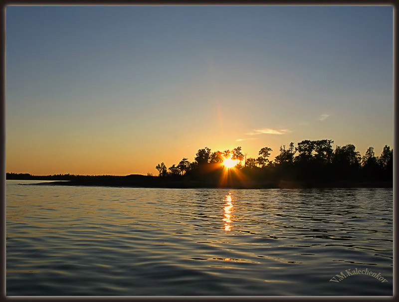 "фото ""Закат над Финском заливе"" метки: пейзаж, вода"