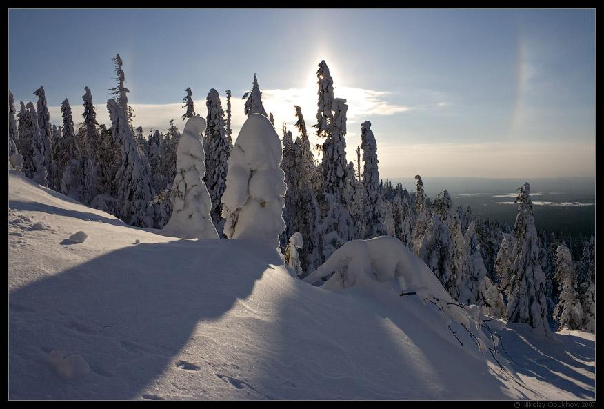 "фото ""Гало / 167_0095"" метки: пейзаж, горы, зима"