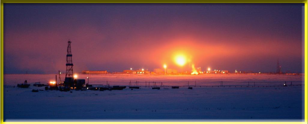 """фото """"Тундра и промышленность"""" метки: панорама, пейзаж, ночь"""