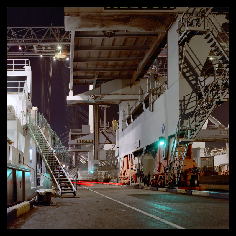 "photo ""Container Terminal at night"" tags: architecture, travel, landscape, Europe"
