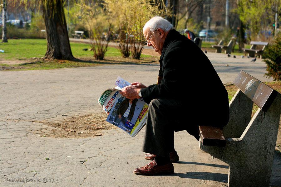 """фото """"В парке на скамье"""" метки: жанр, портрет, мужчина"""