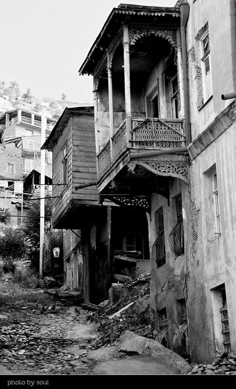 """фото """"Дворик старого Тбилиси"""" метки: архитектура, черно-белые, пейзаж,"""
