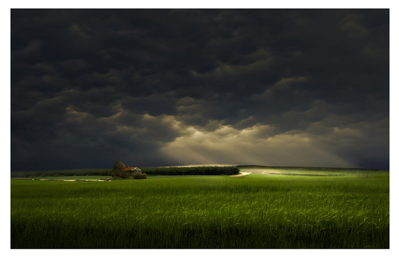 "photo ""The Green Green Grass"" tags: landscape, clouds"