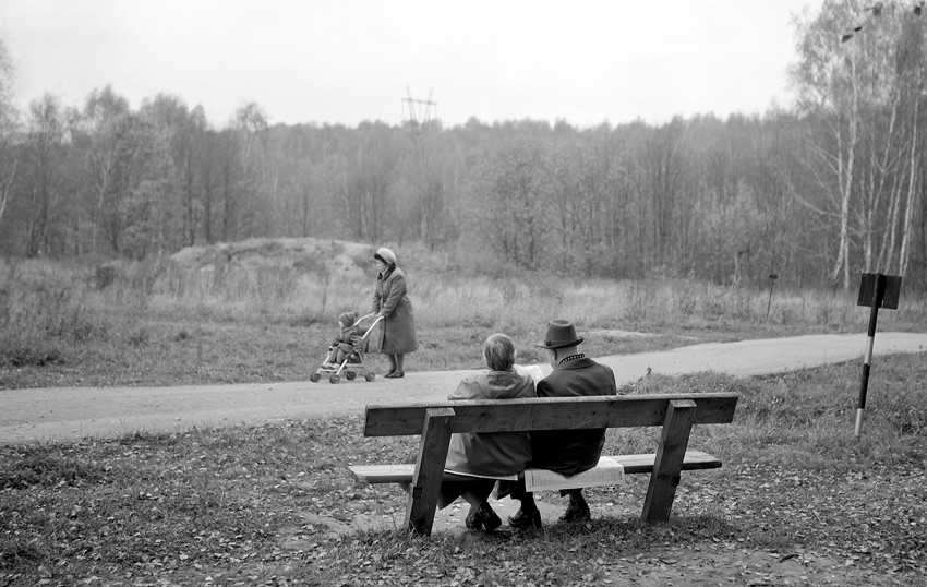 "photo ""Etude in a park"" tags: black&white, genre,"