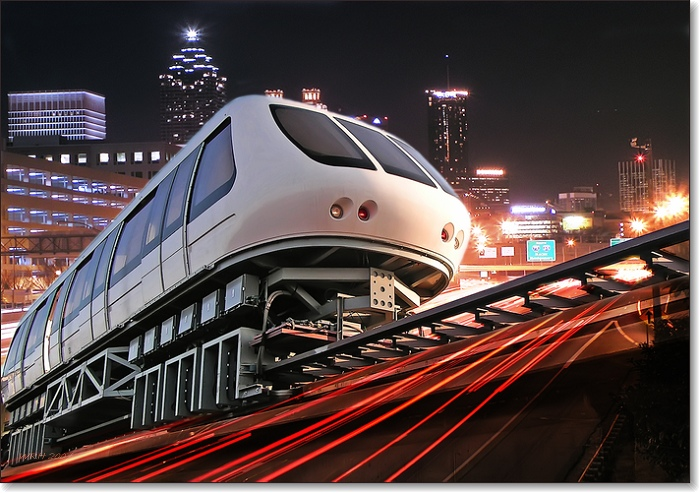 "photo ""Maglev"" tags: city, montage,"