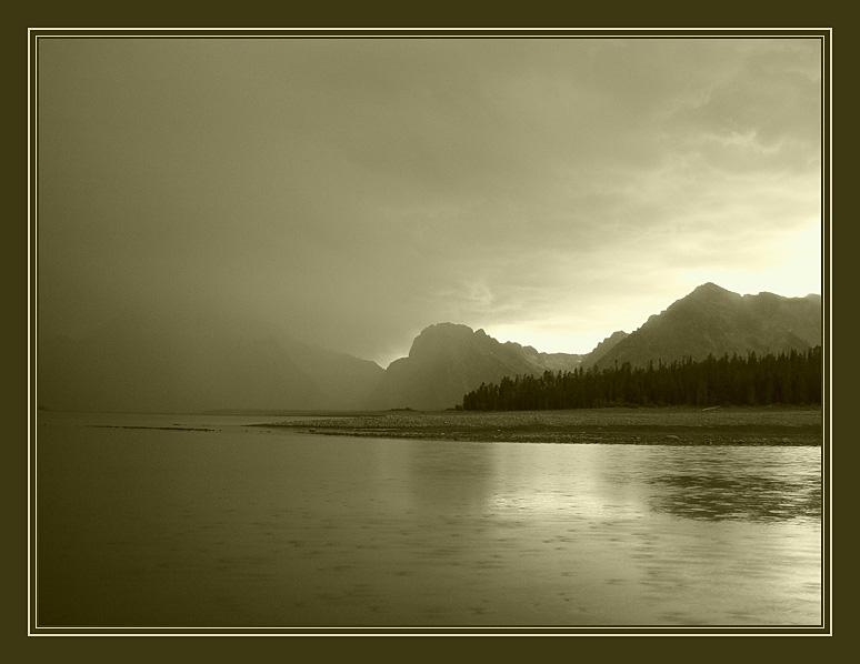 """фото """"Дождь"""" метки: пейзаж, вода, горы"""