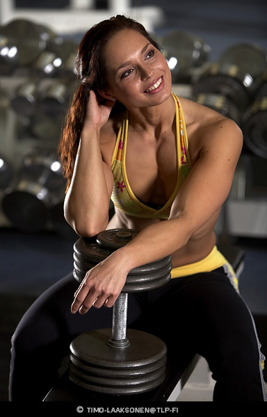 "photo ""Gym 1"" tags: portrait, woman"