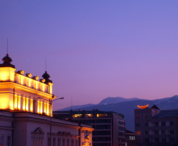 "photo ""Greetings From Sofia"" tags: landscape, architecture, night"