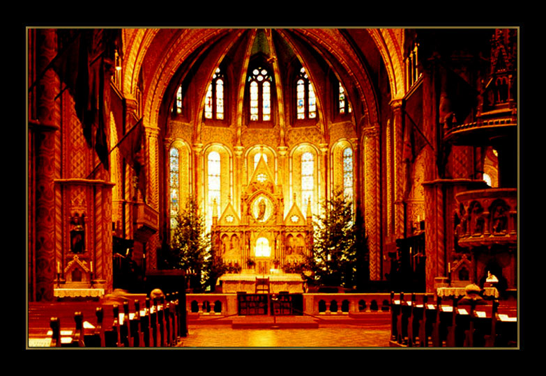 "photo ""MATHIAS CHURCH"" tags: interior,"