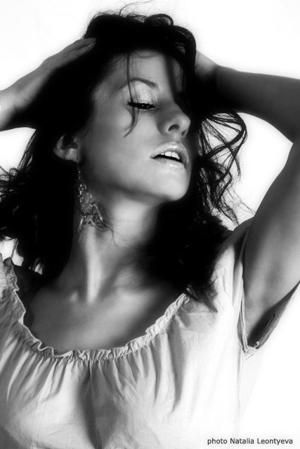 "photo ""Italiano"" tags: portrait, black&white, woman"