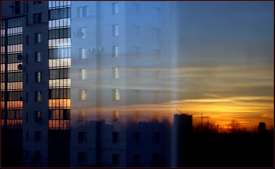 "photo ""Ghost"" tags: architecture, landscape, sunset"