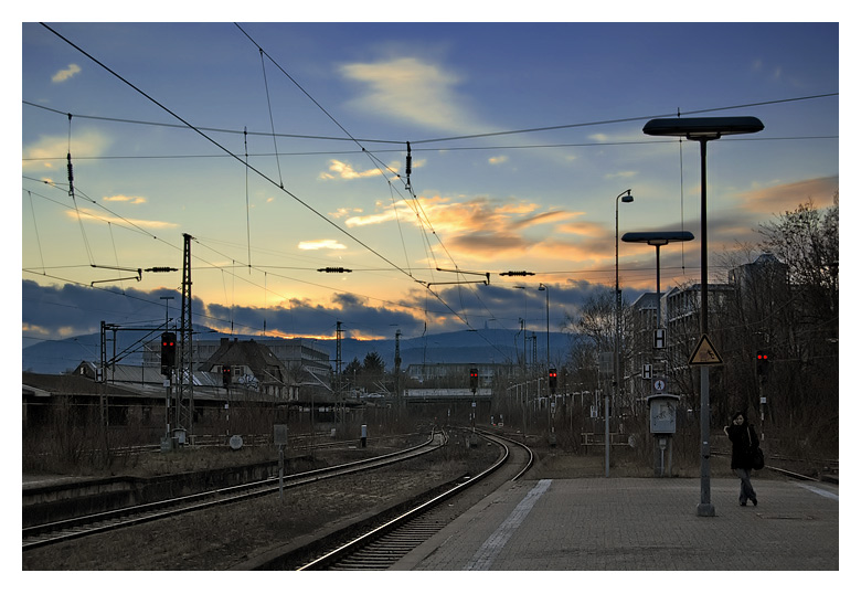 """photo """"the train is gone II"""" tags: landscape, travel, sunset"""