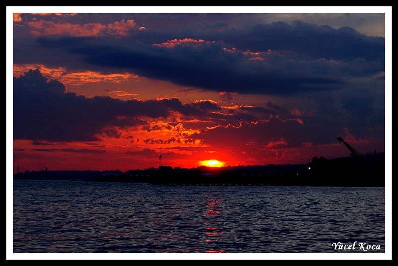 "photo ""Sunset in Marmara Sea"" tags: landscape, sunset"