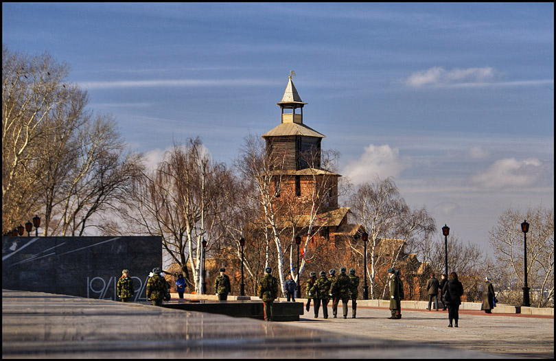 "photo ""Spring in Nizhny Novgorod city, Russia"" tags: travel, Europe"