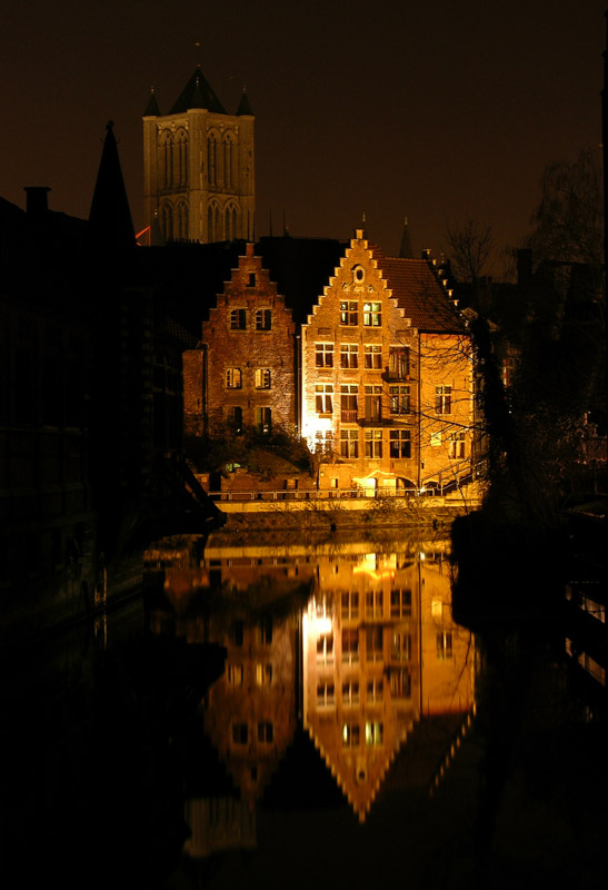"photo ""Belgium. Gent. Night veiw."" tags: travel, architecture, landscape, Europe"