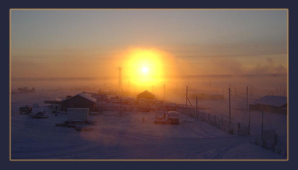 """фото """"Начало дня"""" метки: пейзаж, закат, зима"""