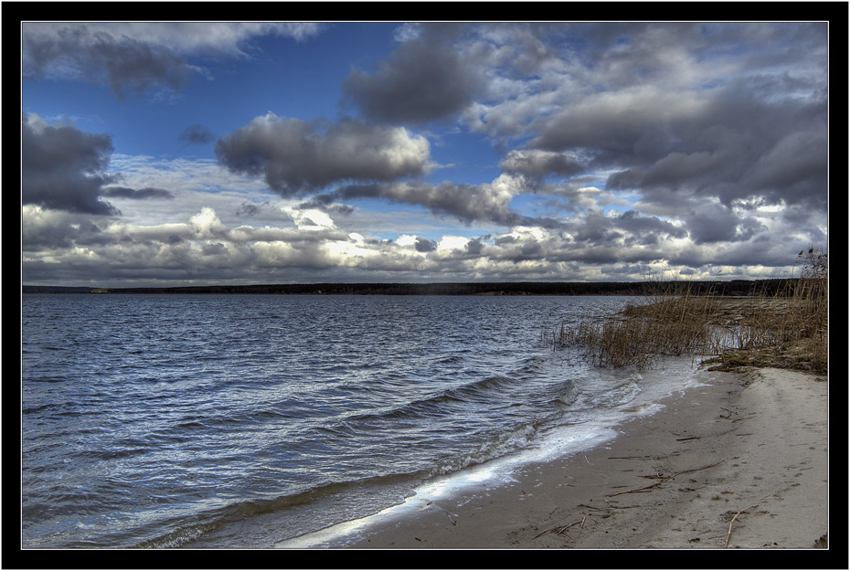 "photo ""The snowclouds"" tags: landscape, clouds, water"
