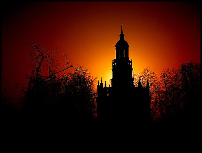 """фото """"..."""" метки: пейзаж, архитектура, закат"""
