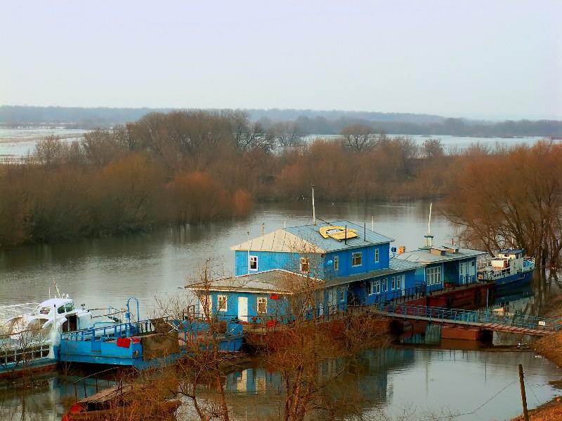 """фото """"Пристань на реке Трубеж"""" метки: пейзаж, весна, вода"""