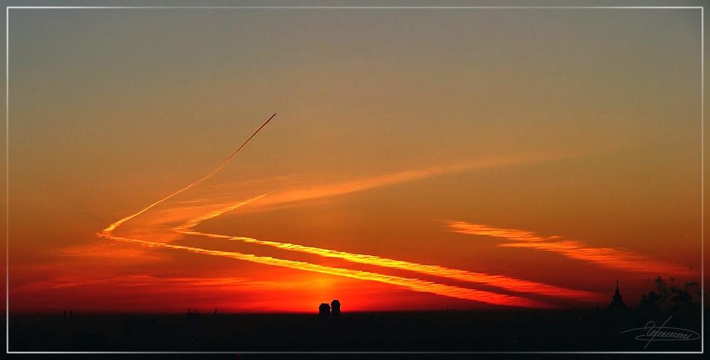 """фото """"Иероглиф."""" метки: пейзаж, закат, облака"""