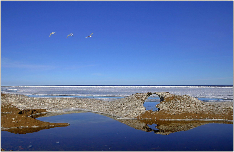 "photo ""The ice on Lake Ladoga"" tags: landscape, spring, water"