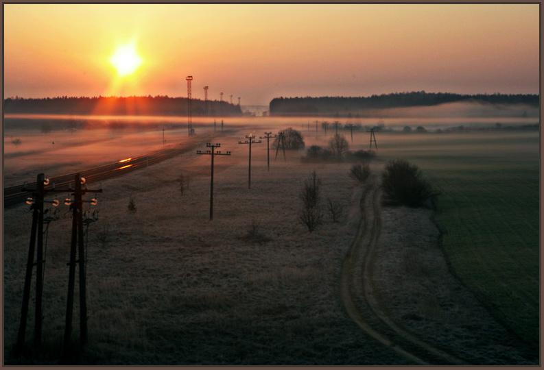 """фото """"Дороги и утро"""" метки: пейзаж, весна, закат"""