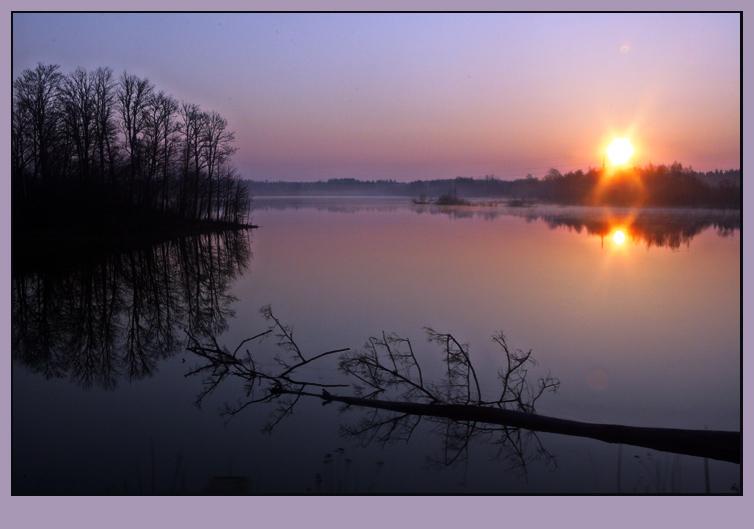 """фото """"Розовый рассвет"""" метки: пейзаж, весна, закат"""