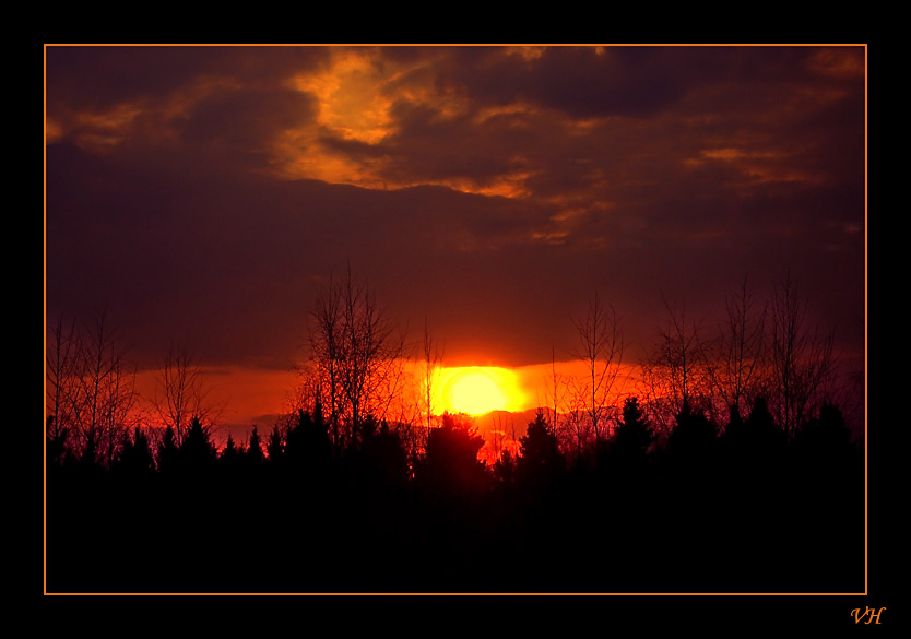 "photo ""The last sunset of march"" tags: landscape, spring, sunset"