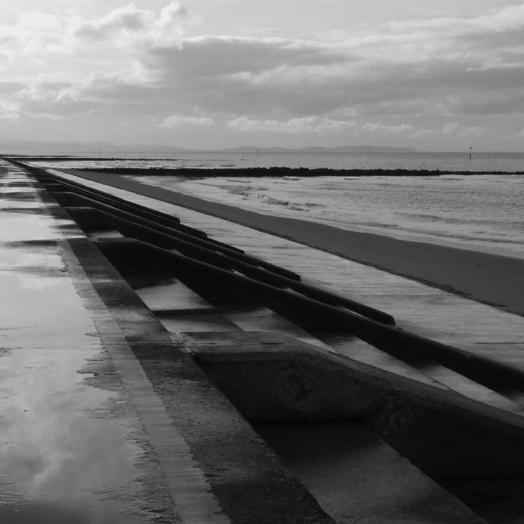 """фото """"The Beach"""" метки: пейзаж, черно-белые,"""